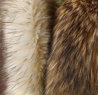 Imitations of natural fur