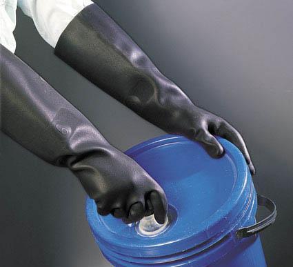 Guantes industriales para trabajos que requieran una protección adicional en las manos.