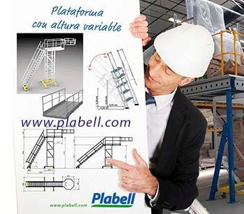 El ingeniero señala su proyecto bajo plano confiando en la marca Plabell,  especialista en soluciones de altura. Se seguirá todas las instrucciones bajo llave en mano.