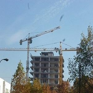POTAIN tower cranes climbing jib 50 meters- max. load cap. 5 ton. Height available to 120 meters