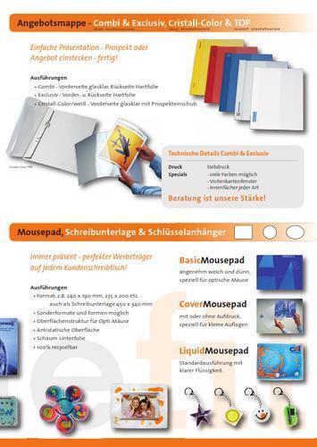 Angebotsmappen + Mousepad