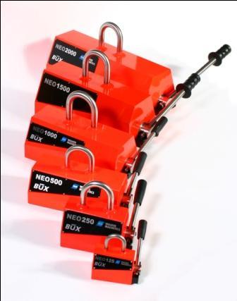 NEO Permanent Lifting Magnets 125kg-2000kg - Safely lift thin plate from 2mm!!