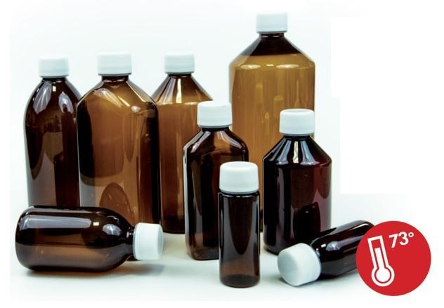 Botellas PET resistentes a 73ºC