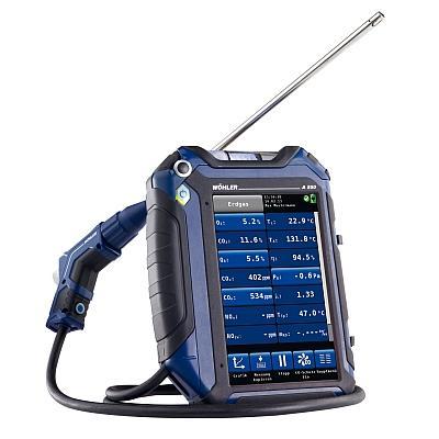 Robust wie ein Werkzeugträger, aber leicht zu bedienen wie ein Smartphone  so universell und komfortabel ist das neue Rauchgasanalysegerät Wöhler A 550.