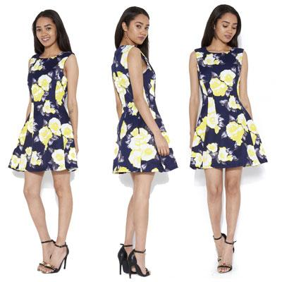 ax paris floral mini dress