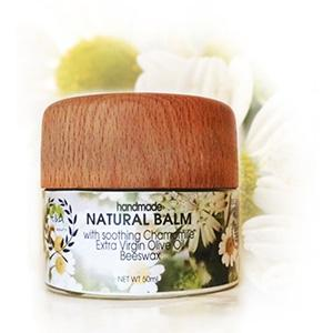 So pure, that you can smell the olive oil and the beeswax's, honey-like, scent.  A soothing, comforting, unrefined beeswax, extra virgin olive oil and chamomile natural balm. - www.ea-purebeauty.com