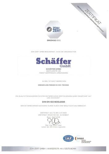 zdh-Zertifikat ISO 9001