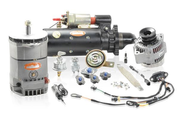 Electric engine startup, engine stop for construction machinery and agricultural machinery
