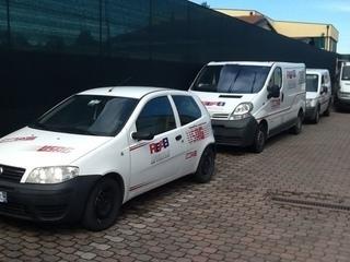 Il parco auto REAB per assistenza e consegne