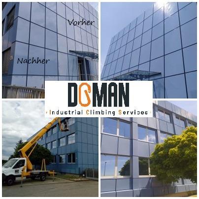 Fassaden- und Fensterreinigung sowie einpflegung mit UV Schutz