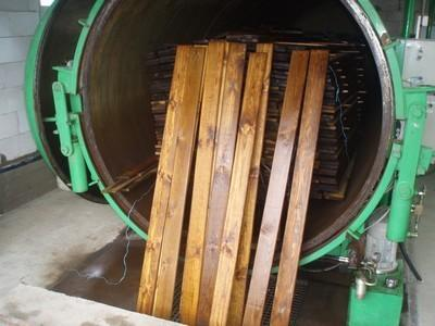 We impregnate wood till 6 m length with Tanalith E and Tanaton