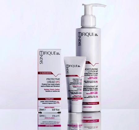 The first skincare for moisturizing and skin protection against common irritants such as Nickel and Chromium. Designed for sensitive and allergic skin. Based on exclusive, proprietary technologies.