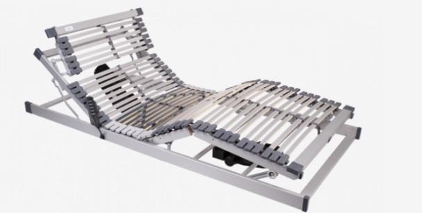 Exclusive frame system with 4 built-in motors, offering 7 comfort zones