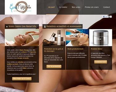 This is an example of website we produced for a beauty center