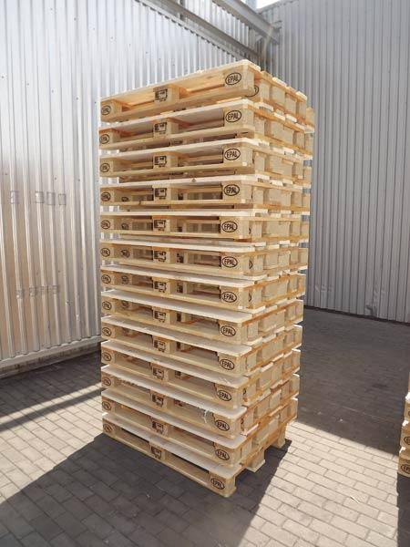 EPAL EURO pallets manufactured according to the EPAL technical regulations. 800x1200x144 mm, 4 way entry. Heat treated, marked HT, meet International Standards For Phytosanitary Measures ISp,15/IPPC