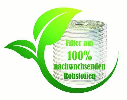 Filtermaterial aus 100% Zellulose