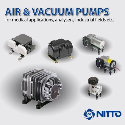 We offer diaphragm and patented linear-shuttle pumps in AC and DC for low and medium pressure range for use in the medical, biotechnology, nuclear semiconductor, chemical, and computer markets.