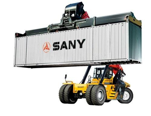 Gabelstapler, Container
