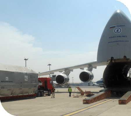 Delivering Airbus' Horizontal Transport Container to Antonov Aircraft