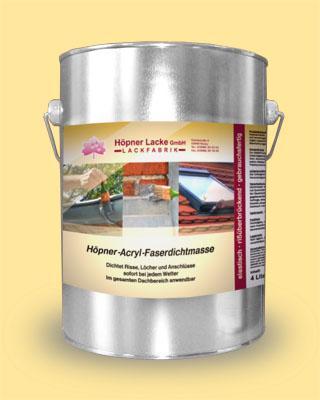 Höpner Acrylic Fibre-Reinforced Sealing Compound - permanently elastic * weather-resistant Höpner Acryl Faserdichtmasse, dauerelastisch regenfest, dichtet bei jedem Wetter