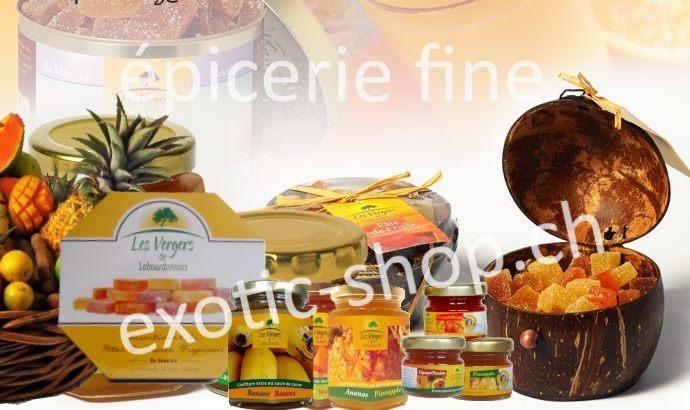 Confitures et pâtes de fruits aux fruits tropicaux