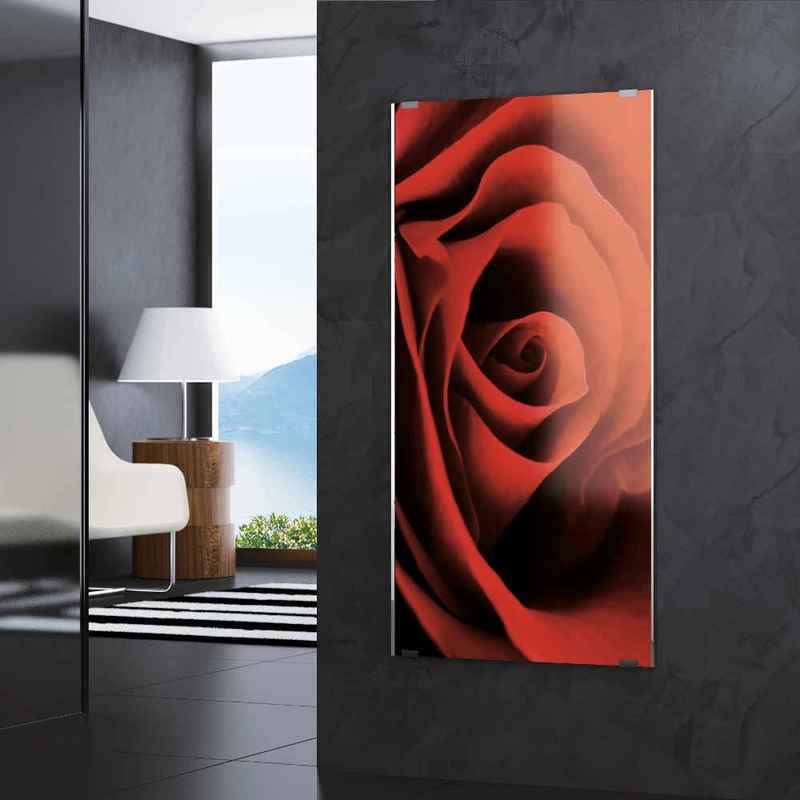 SOLE Novellini è un radiatore elettrico con pannello in cristallo serigrafato temprato con tecnologia IN ART.