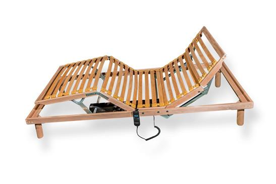 wood beech bed frames with electric drive.