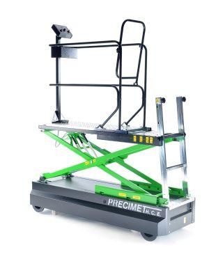Trolley for crop cultivation in greenhouses equipped with manual lift, 2.3m