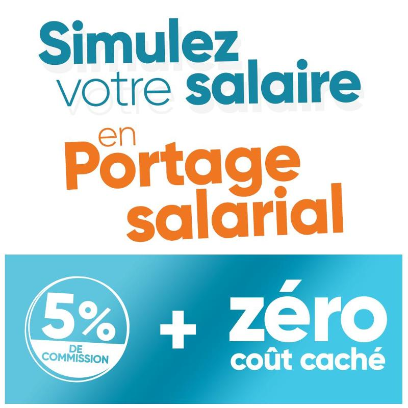 Simulez votre salaire en portage salarial avec 5% de commission