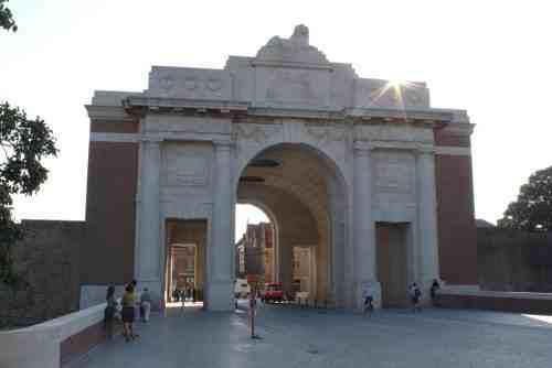 At 8pm every evening the Last Post is sounded under the Menin Gate to remember all those who lost their lives in the First World War in the Ypres Salient. It bears the names of over 54,389.