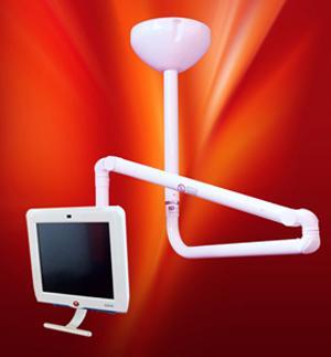 Braccio articolato portamonitor o PC in versione a soffitto