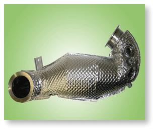 Nous concevons et fabriquons  des protections thermiques rigides intégrées performantes jusqu'à une température de 1200°C.