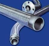 "Available in size range 1/4"" to 10"".  Material of hose SS-321 and SS-316 with or with SS-304 braid."