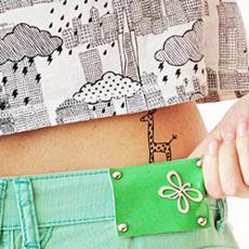 Personalised temporary tattoos