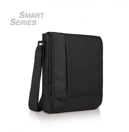 Document bag with transparent window for a tablet, with very modern and functional design includes transparent front pocket for carrying your tablet and use it without removing it from the case.