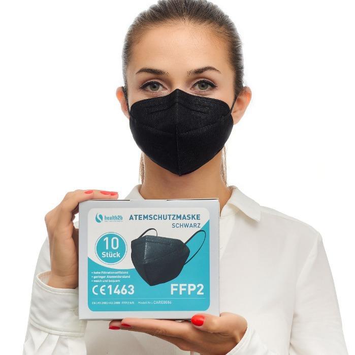 FFP2 Atemschutzmaske schwarz CE-Zertifiziert