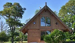 wood country house