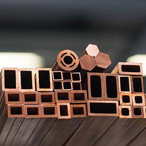 Vierkantrohre Kupfer