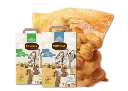Fresh organic potatoes from the best Dutch clay packaged in a sustainable paper packaging.