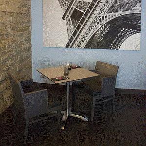 Plateau de table en Stratifié Compact HPL épaisseur 10mm décor Beige Toundra (Unis Taupe) qualité extérieure UV+