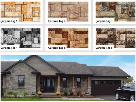 Broken stones patterned coating panels
