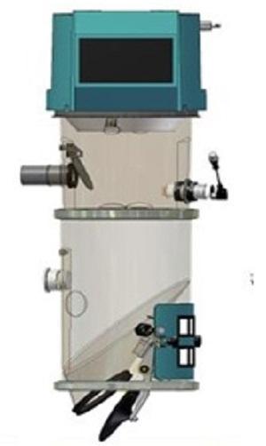 Podajnik pneumatyczny podciśnieniowy Somos FG do przesyłu granulatów, przemiałów i proszków w przetwórstwie tworzyw sztucznych. Centralny system podawania tworzyw.