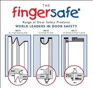Fingersafe® finger and hand injury protection safety products are easy to install fitting full length on both sides of doors.