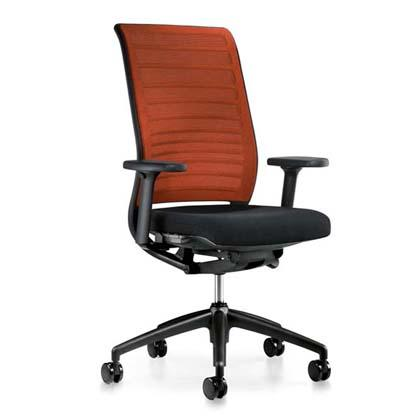 Office swivel chair with locable Autofit synchronous mechanism, weight regulation, mesh covered backrest. From athletically hard to relaxingly soft, everyone's personal taste is catered for.
