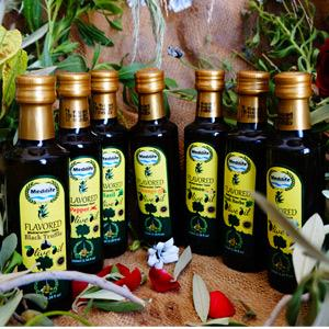 Our Set of Flavored Olive Oil by MEDILIFE comes from Hand harvested Olives. Quality is our main concern . You cna take sample to verify . We carry various flavors (Cayenne Pepper, Lemon, 4 Herbs..etc)