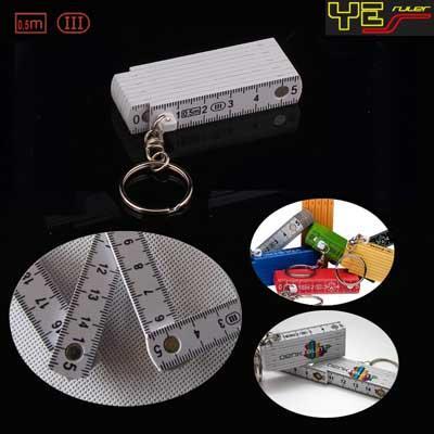0.5m keychain plastic folding ruler