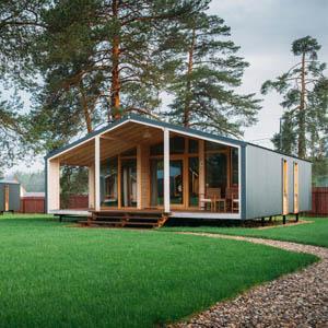 Modular DUBLHAUS 65 m2  is a serial all-season modular house.