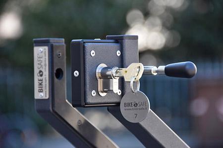 Bike Safe Schloss offen mit kopiersicherem Schlüssel