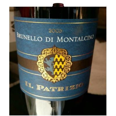 Brunello Di Montalcino tanto amato da clienti americani e russi. Il produttore Il Patrizio. Ottimo rapporto qualità- prezzo