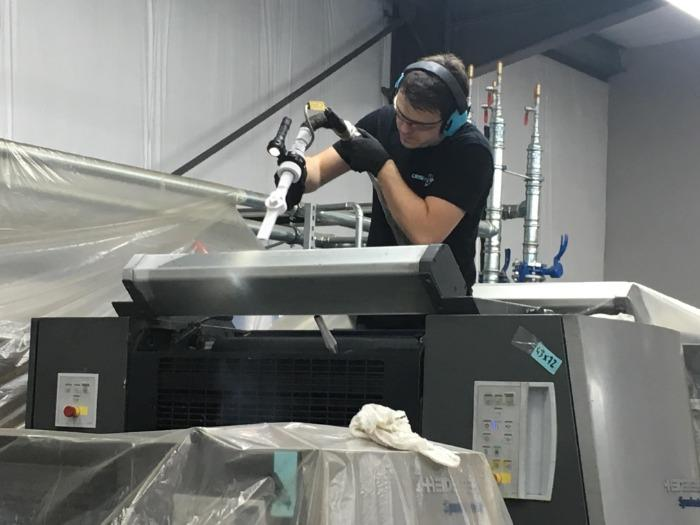 Prestation nettoyage cryogénique